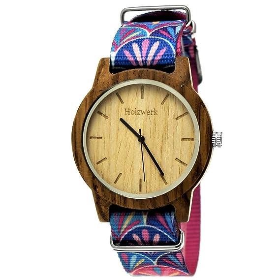 Hecha a mano de madera de Alemania® Mujer de reloj de hombre reloj boho Ethno