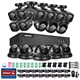 ANNKE® 16CH 720P HD-TVI Security Camera System and (16) 1280TVL 1.0MP Weatherproof CCTV Cameras, P2P Technology, Smart Search/Playback Review