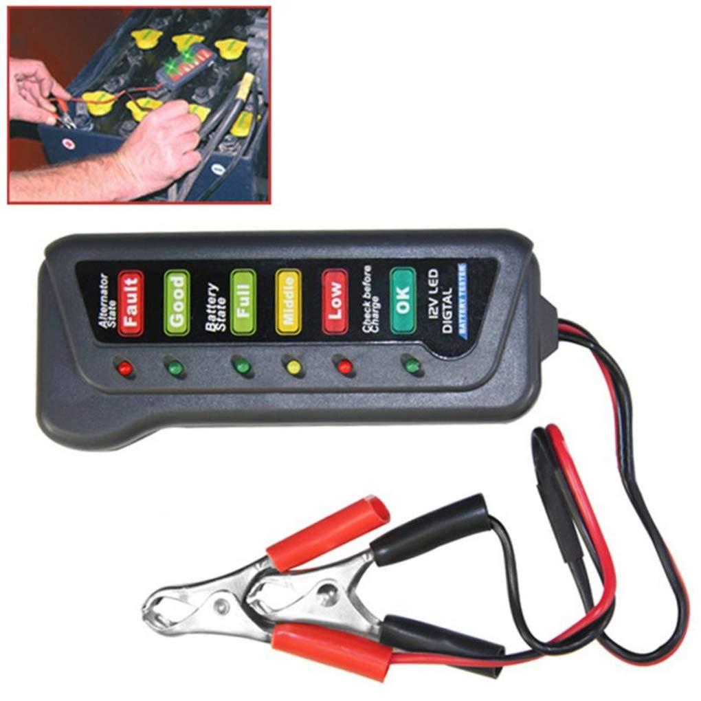 Morza Carro del Coche de 12 voltios Tester bater/ía Indicador de luz LED Display Motocicleta Battery Checker