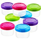 Sistema To Go Collection Dressing Food Storage Containers, 1.1 Ounce, Assorted Colors, Set of 8