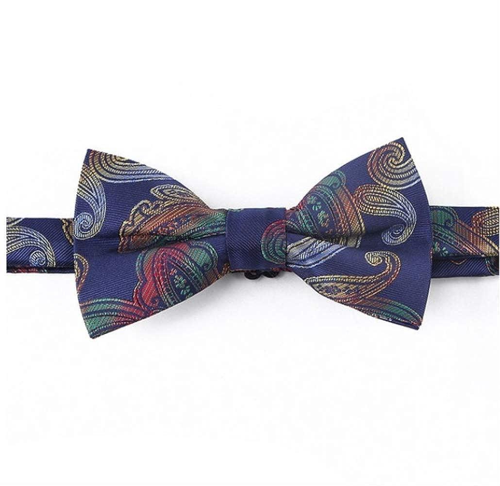 YiJiaMei Hombres de microfibra floral paisley pajarita corbata de ...