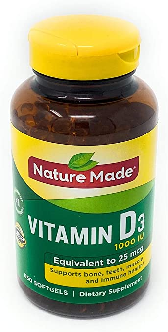 Amazon Com Nature Made Vitamin D3 25 Mcg 1000 Iu 1pack 650 Softgels Health Personal Care