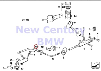 Astounding Genuine Bmw Cmsp E24 E28 E30 Z1 Cabrio Clutch Pressure Hose Oem Wiring Digital Resources Counpmognl