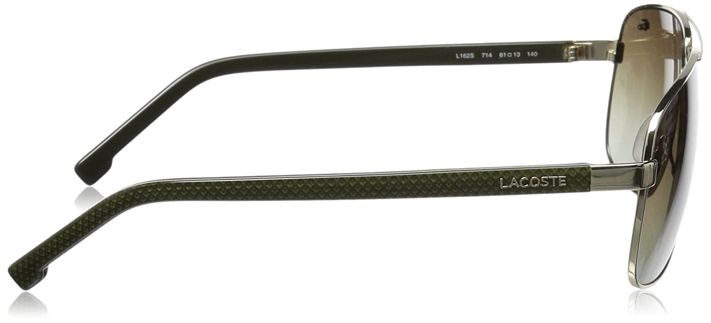 3497f728e74ba3 Amazon.com  Lacoste Men s L162S Aviator Sunglasses Gold 61 mm  Clothing