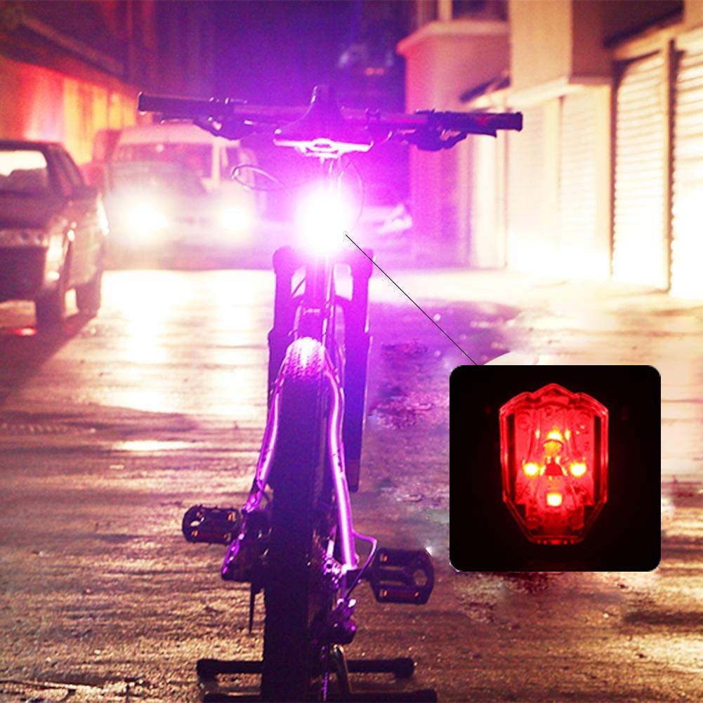 Fits on Any Road Bikes for Cycling Safety Flashlight Easy to Install for Men Women Kids Bike Tail Light USB Rechargeable Rear Bike Light Super Bright Led Red Bicycle Taillight with 4 Setting
