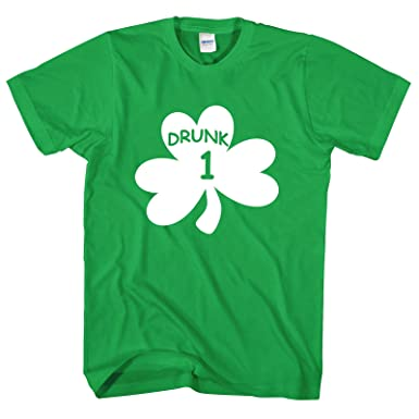96b6a77e0 Trend Gear St Patricks Day T Shirt Paddys Day Novelty Funny Drunk 1 to 12 Beer  Drinking Mens Ladies Top: Amazon.co.uk: Clothing