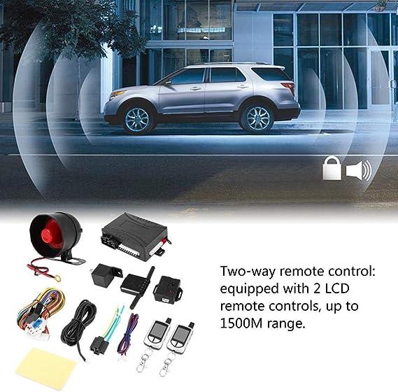 Anti-Theft Car Alarm System Two-way Remote Start Keyless Entry Car ...