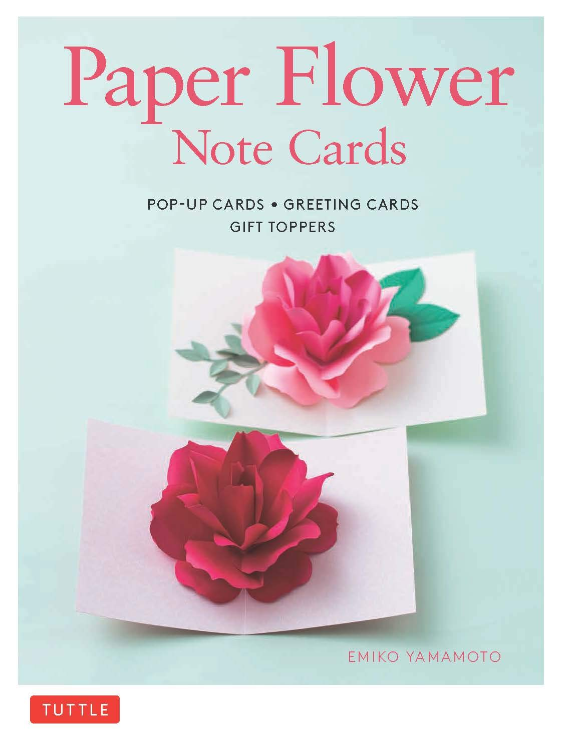 Paper Flower Note Cards  Pop Up Cards   Greeting Cards   Gift Toppers