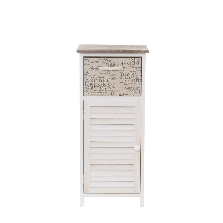 Mobiletto in legno, con cassetto e anta KASANOVA