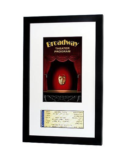 Amazon.com - Broadway Playbill Ticket Frame (Program - Ticket, Satin ...
