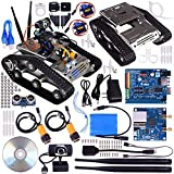 kuman Sm5 Th Wireless Wifi Robot Car Kit With Video tutorial for Arduino,utility Vehicle Intelligent Robotics, Hd Camera Ds Robot Smart Educational Robot Kit for Kids (Wifi Robot Car Kit)