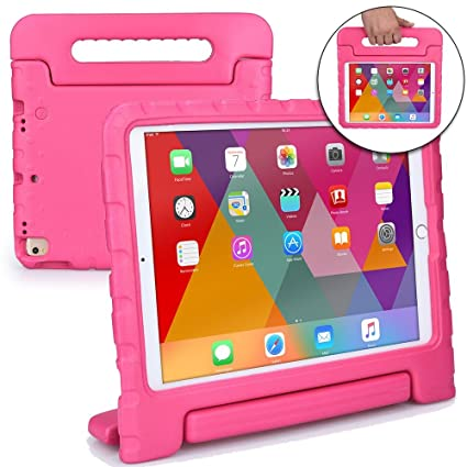 Cooper Dynamo [Rugged Kids Case] Protective Case for iPad Pro 10.5-inch | Child Proof Cover with Stand, Handle, Screen Protector | A1701 A1709 (Pink)