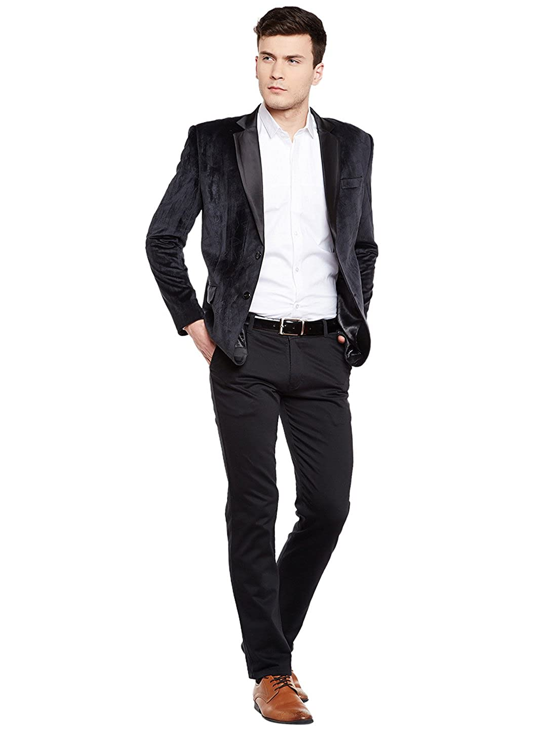 WINTAGE Mens Velvet Grandad Collar Ceremony Blazer Seven Colors