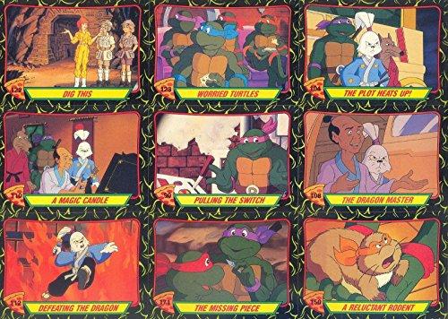 TEENAGE MUTANT NINJA TURTLES CARTOON 2 1990 COMPLETE BASE CARD & STICKER SET 88 + 11 AN