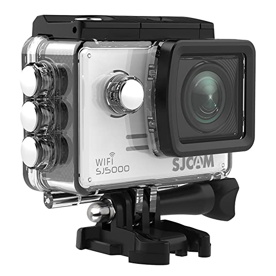 SJCAM SJ5000 WIFI Action Camera 14MP 1080p Ultra HD Waterproof Underwater Camera Large Screen Wide Angle Sports DV Camcorder for Diving Swimming Surfing Biking- Silver Video Cameras at amazon
