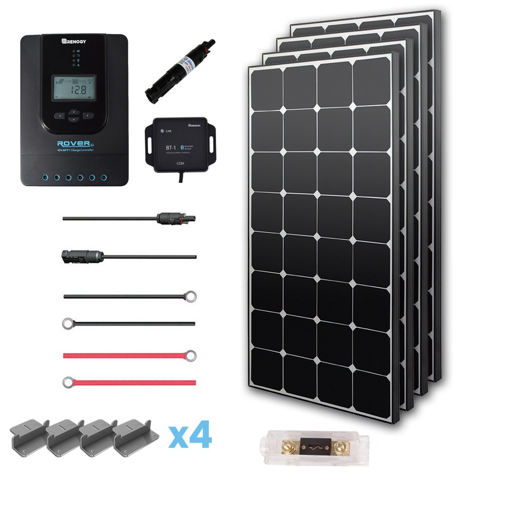Renogy 400W Eclipse Monocrystalline Solar Panel Premium Kit with 40A Charger Controller
