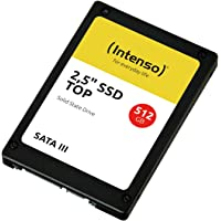 Intenso 3812450 3812450 interne SSD-harde schijf 512GB Top Performance, zwart