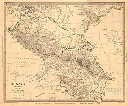 Map Of Old Georgia.Amazon Com Caucasus Russia Circassia Astrakhan Georgia Azerbaijan