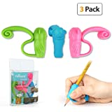 Pencil Grips, Firesara 2018 Original Pencil Gripper Monkey Design Posture Correction for Kids Preschoolers Children Adults Special Needs Handwriting Aid for Lefties or Righties (3PCS)