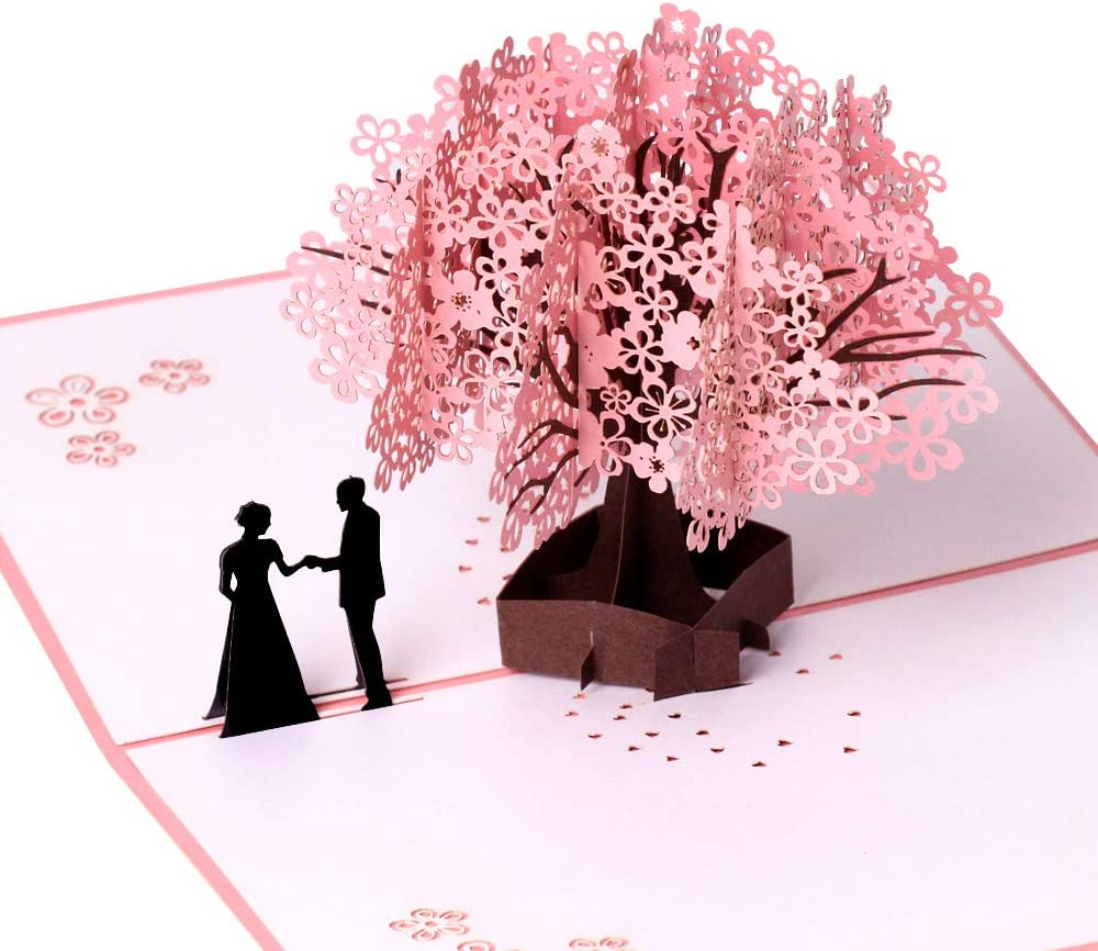 Tarjeta de cumpleaños, tarjeta de aniversario, romántica 3D, tarjetas de felicitación desplegables, regalo para esposa, novia, marido o novio