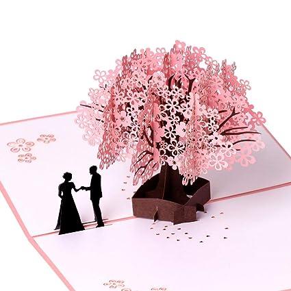 Tarjeta de cumpleaños, tarjeta de aniversario, romántica 3D ...