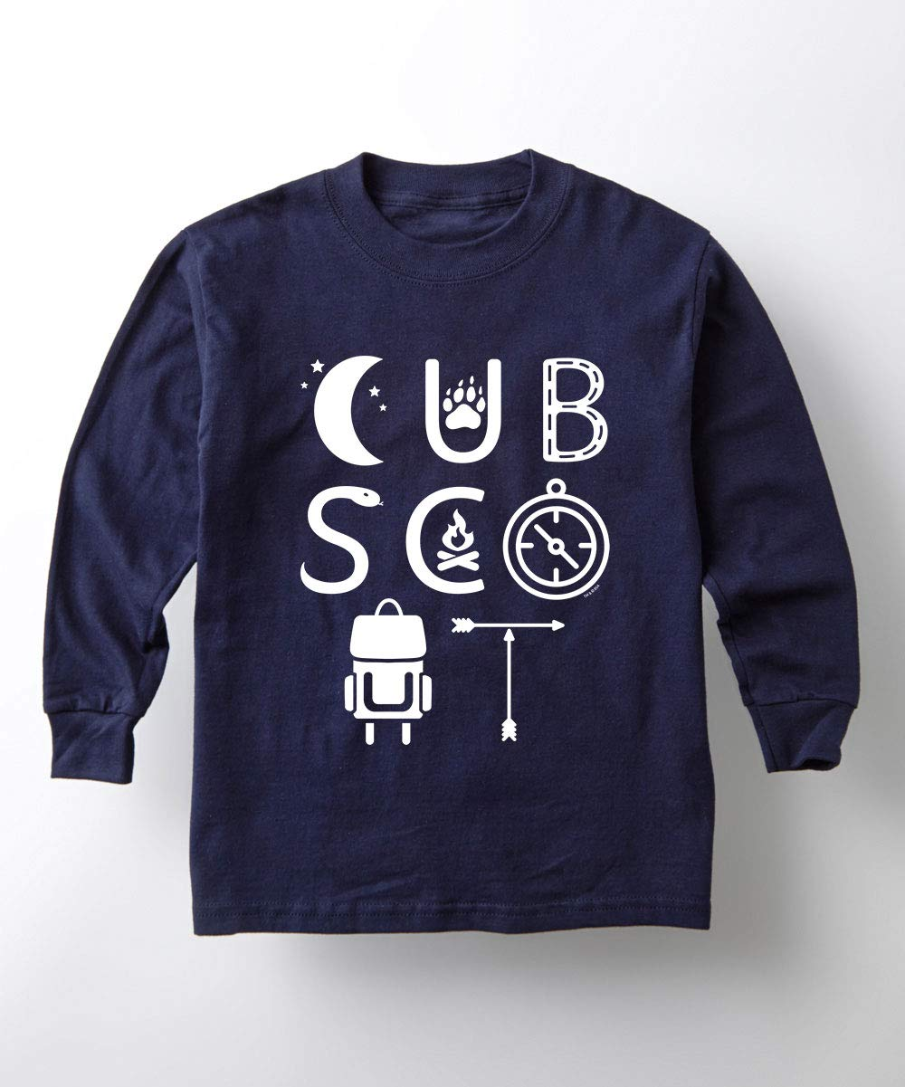 Boy Scouts of America Cub Scout Icons - Youth Long Sleeve Tee Navy by Instant Message