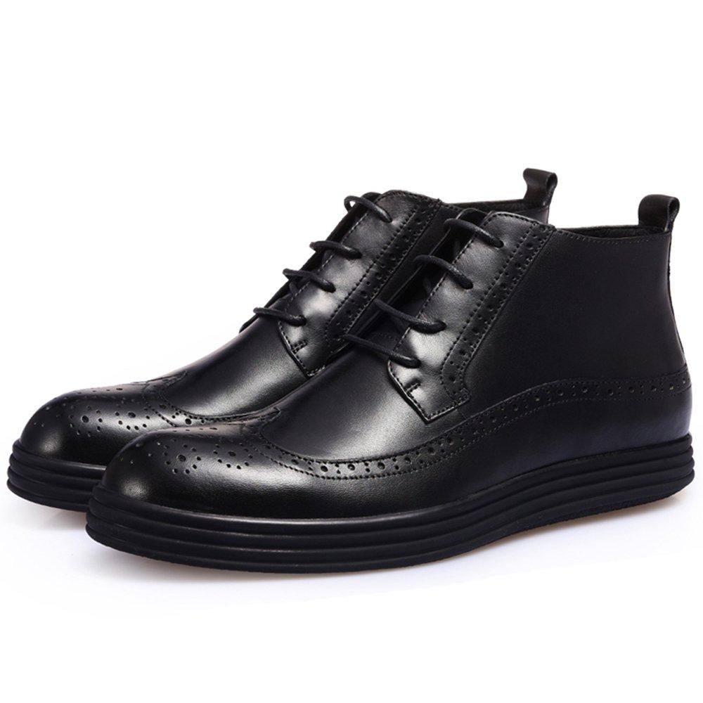 GoldGOD Bullock Geschnitzte Leder Herrenschuhe Business Casual Casual Casual High-Top-Schuhe Mit Lederschuhe Wilden Sets Von Füßen Freizeitschuhe,schwarz,44 00311c