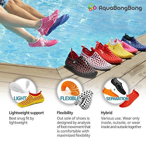 ABONG Aquabongbong Wasserschuhe - Superleicht, atmungsaktiv, flexibel.  Rosa-rosa