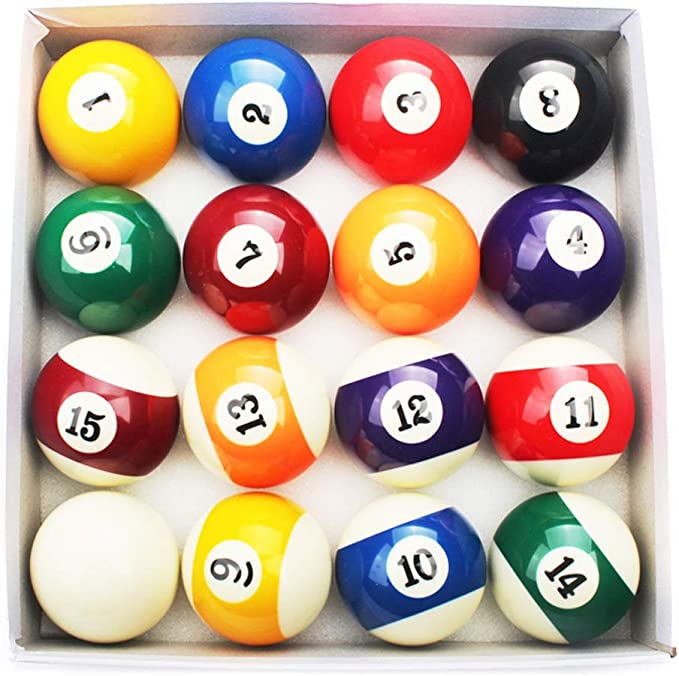 WXS Bolas de Billar, Puntos de Resina y Rayas Pool Table Ball Set ...