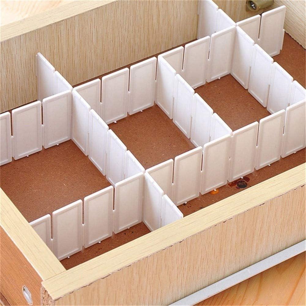 6pcs Grille tiroir Diviseur Necessities m/énagers Organisateur de stockage Diviseur en plastique pour Bureau Penderie Tiroir peu encombrante Outils pour la maison