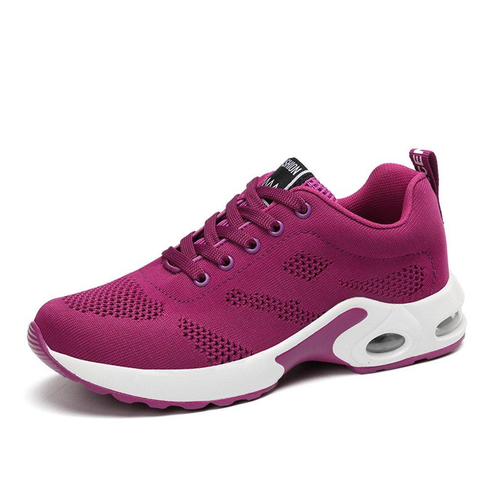 KOUDYEN Scarpe Sportive Scarpe Donna da Ginnastica Running Shoes Sports Sneaker da Fitness Unisex Rosso Viola Nero Rosa 1wyMh