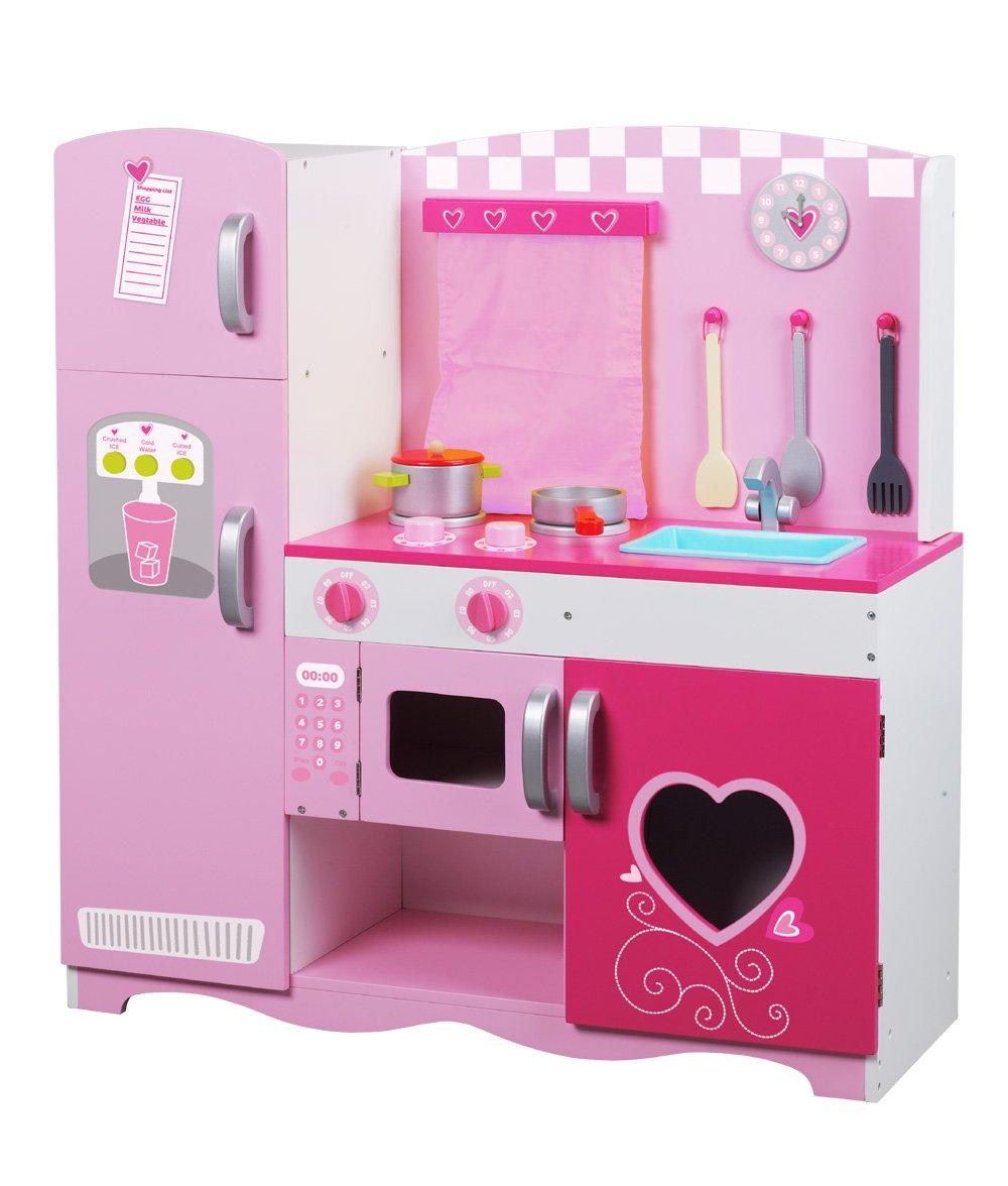 Kitchen Set wooden kitchen set photos : Amazon.com: Classic World Wood Kitchen, Pink: Toys & Games