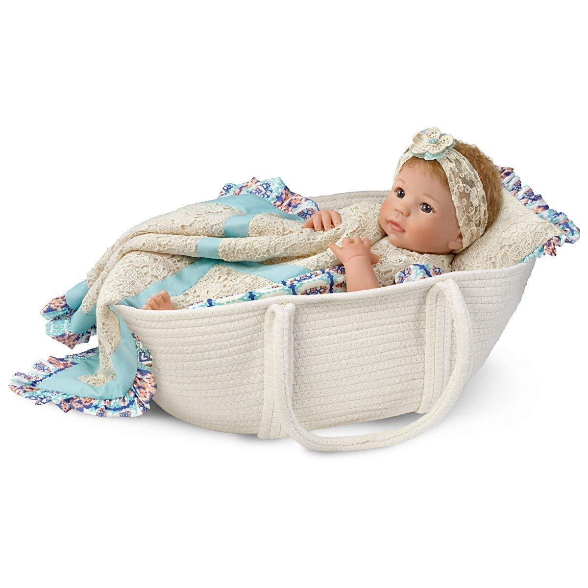 The Ashton-Drake Galleries Linda Murray Delilah Lifelike So Truly Real Baby Doll with Basket:by