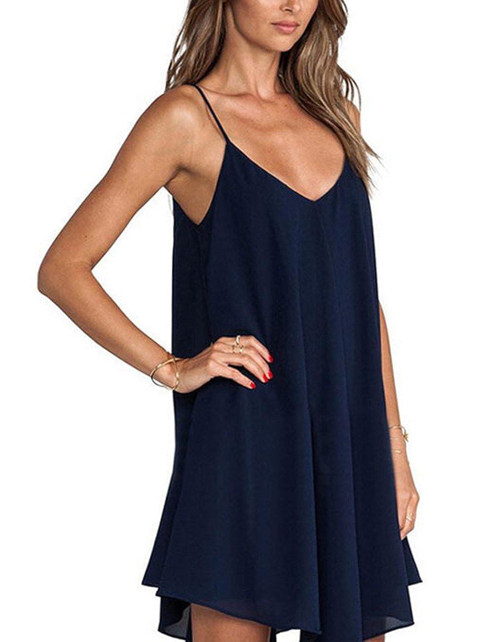 Women Sleeveless Backless Deep V Neck Irregular Hem Sling Lingerie Dress Nightwear PINSHANG