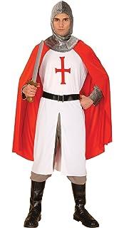 MENS KNIGHT COSTUME ADULT ST GEORGE FANCY DRESS MEDIEVAL ENGLISH CRUSADER MAN 90