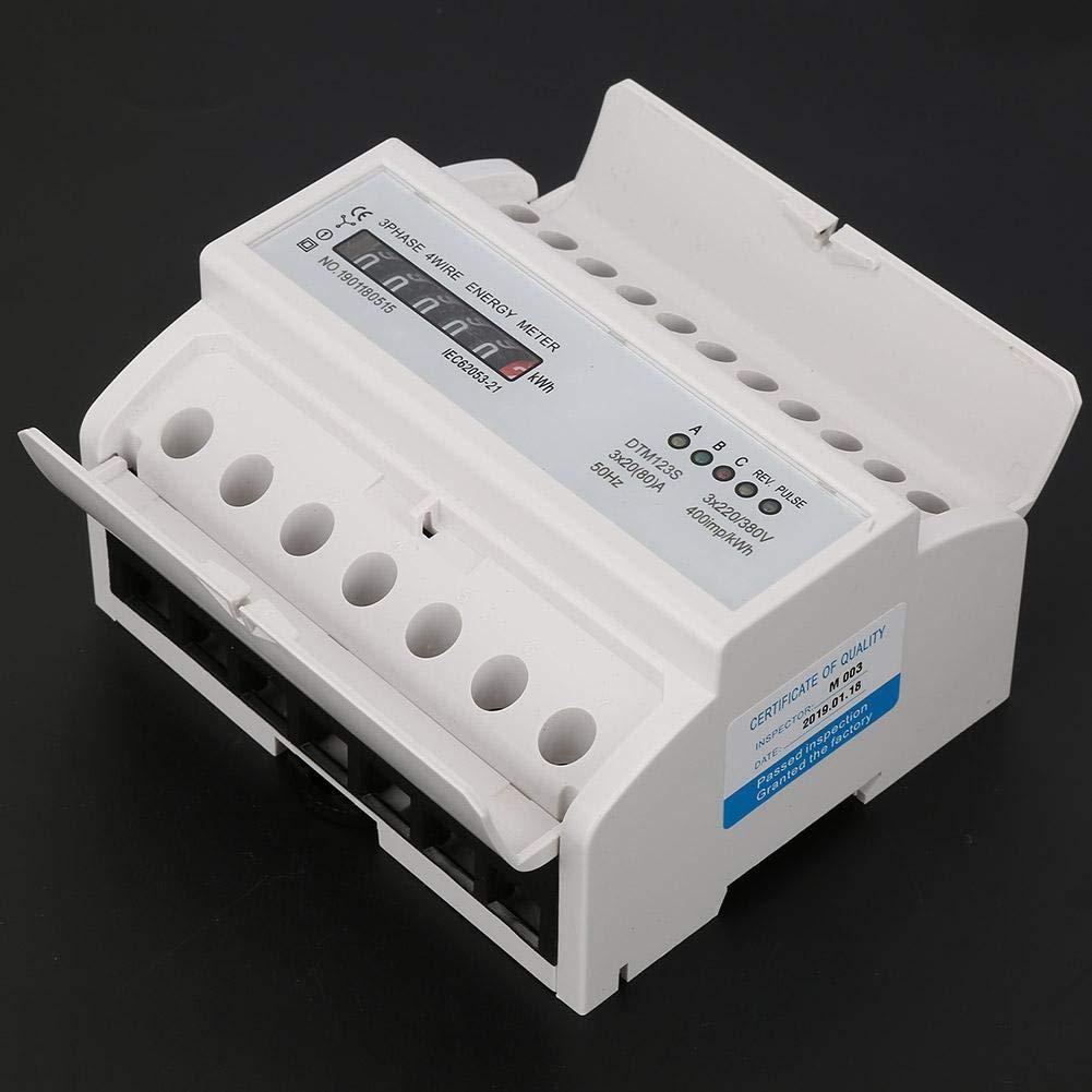 Compteur /électrique 220 380V 20-80A Consommation d/énergie Compteur /électrique num/érique 3 Phase KWh Meter Compteur /électrique