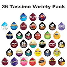 36 Tassimo T Discs Pods Variety Pack - 1 x Each Flavour