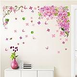 Takarafune 大きいサイズ ウォールステッカー 花 ウォールステッカー 桜 蝶壁紙 インテリア ウォールペーパー