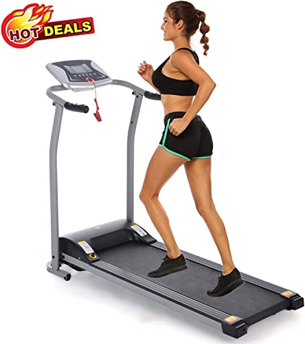 Folding Treadmill Electric Motorized Power Walking Jogging Running Exercise Fitness Machine Trainer Equipment