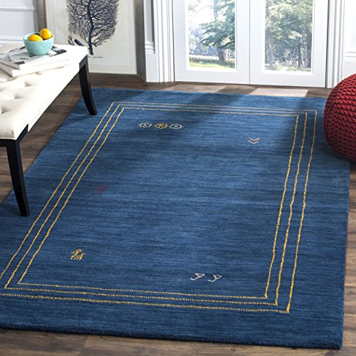 Safavieh Himalaya Collection HIM588A Blue and Multi Wool Area Rug 5 x 8