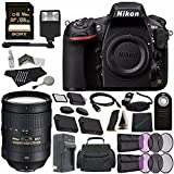 Nikon D810 DSLR Camera (Body Only) + Nikon AF-S NIKKOR 28-300mm f/3.5-5.6G ED VR Lens + Battery + Charger + Sony 128GB SDXC Card + HDMI Cable + Remote + Memory Card Wallet + Flash Bundle