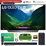 LG 65 C8 OLED 4K HDR AI Smart TV (2018) with Bonus Hulu $100 Gift Card + SK8Y Hi-Res Sound Bar with Dolby Atmos + 1 Year Extended Warranty and More - OLED65C8