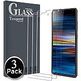 Ferilinso Cristal Templado para Sony Xperia 10 Plus,[3 Pack] Protector de Pantalla Screen Protector con garantía de reemplazo de por Vida para Sony Xperia 10 Plus