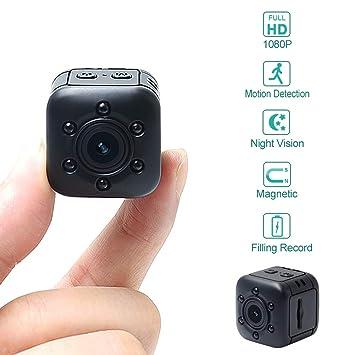 Mini cámara LXMIMI 1080P HD portátil con detección de Movimiento y ...