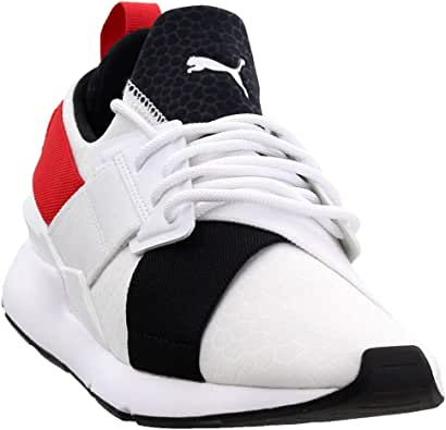 PUMA Womens Muse Croc Casual Sneakers,