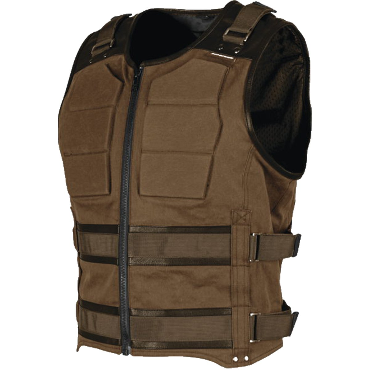 Speed and Strength True Grit Armored Men's MX Motorcycle Vest - Brown 3X-Large by Speed and Strength