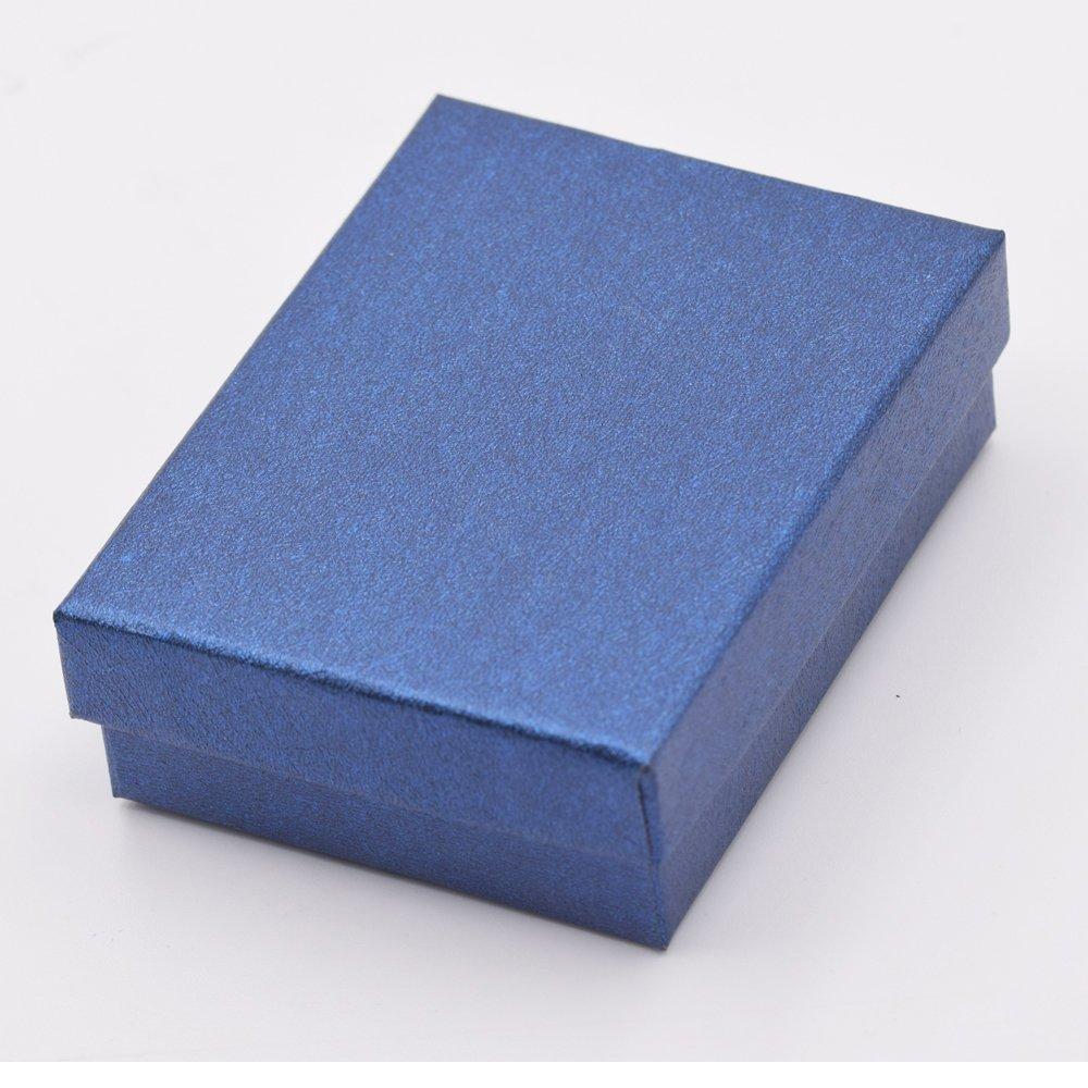 Pulsera hombres Cuero Azul con acero inoxidable cierre magn/ético 21,5 cm