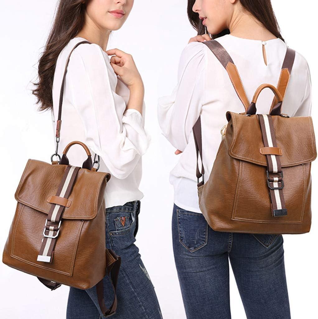 Simdoc Women PU Leather Backpack Anti Theft Backpack Travel Rucksack Handbag Shoulder Bag Multipurpose Daypack For Women Lady Girls
