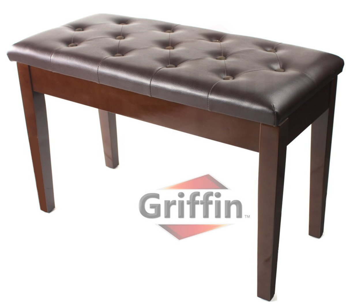 Amazon.com: Griffin Double Brown Leather Piano Bench – Vintage ...