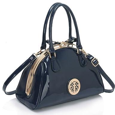 6b1c0781a Ladies Fashion Quality Elegant Patent Metal Arch Frame Handbag Women's  Designer Celebrity Stunning Tote Bags CWS00352
